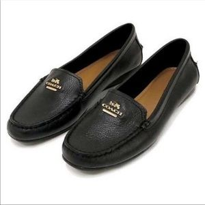Coach Opal Black Leather Driving Moccasin Size 8